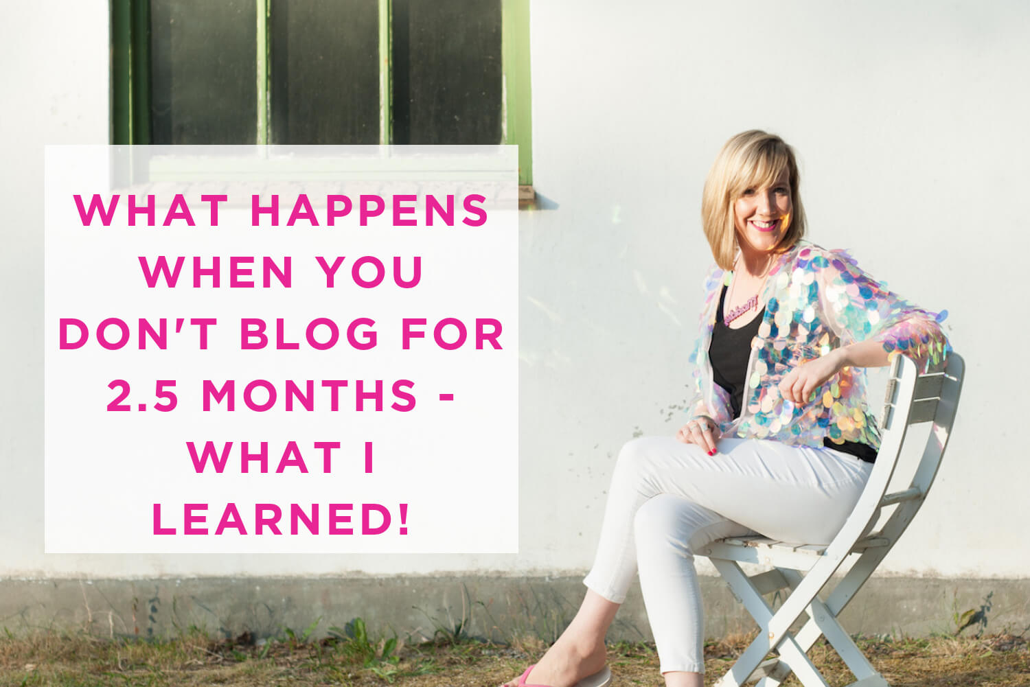 what happens if you don't blog