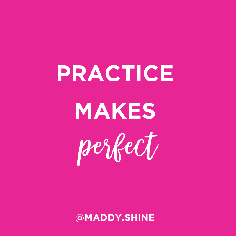 Practice Makes Perfect Quote Making Your Business Shine